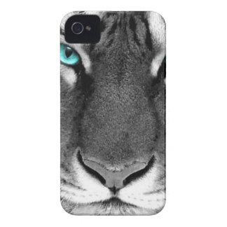 Tigre blanco negro carcasa para iPhone 4 de Case-Mate