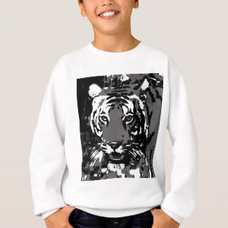 Tigre blanco negro del arte pop polera