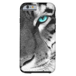 Tigre blanco negro funda de iPhone 6 tough