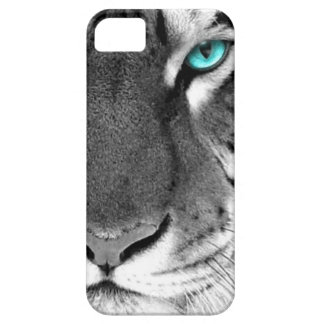 Tigre blanco negro iPhone 5 carcasa