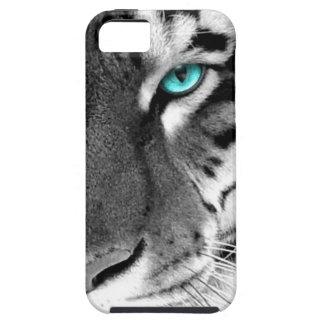 Tigre blanco negro iPhone 5 carcasas