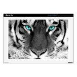 Tigre blanco negro portátil calcomanía