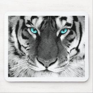 Tigre blanco negro alfombrillas de ratón