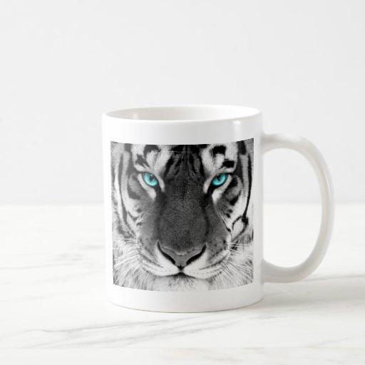 Tigre blanco negro taza