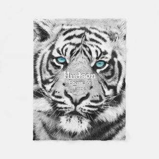 Tigre blanco personalizado del tigre de Bengala Manta Polar