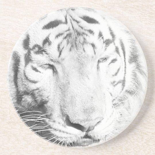 Tigre blanco posavasos personalizados