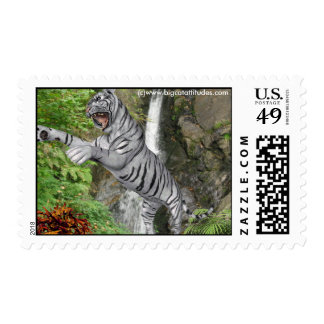 Tigre blanco Postage3 Estampillas