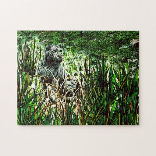 Tigre blanco puzzle con fotos