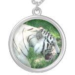 Tigre blanco que camina por Susan L pantano Grimpola Personalizada