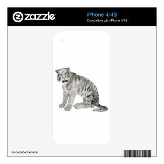 Tigre blanco que mira al frente iPhone 4S skin