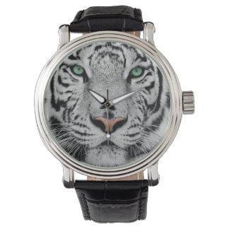 Tigre blanco reloj de mano