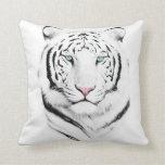 Tigre blanco siberiano almohada