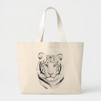 Tigre blanco siberiano bolsa de mano