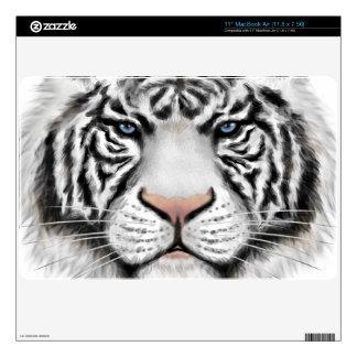 Tigre blanco siberiano calcomanía para el MacBook air