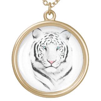 Tigre blanco siberiano collares personalizados