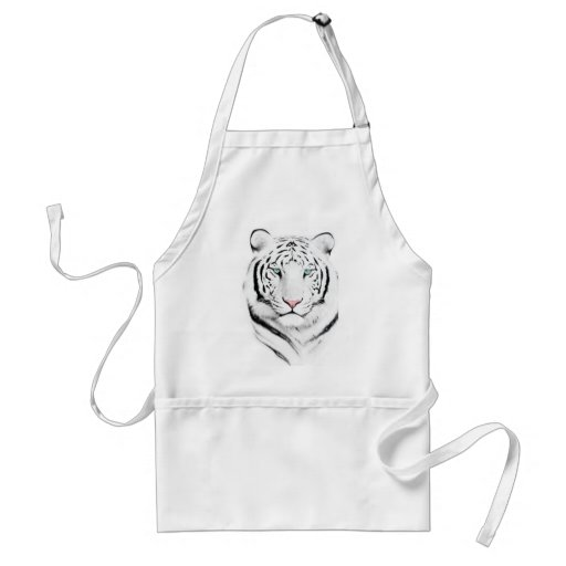 Tigre blanco siberiano delantales