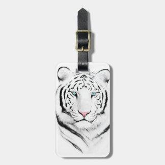 Tigre blanco siberiano etiqueta para equipaje