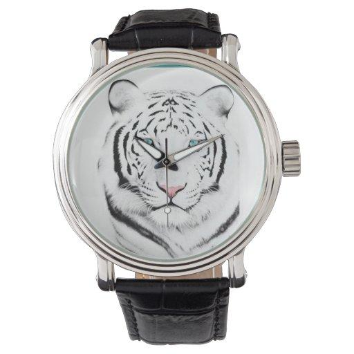 Tigre blanco siberiano relojes de mano