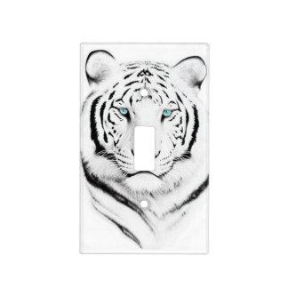 Tigre blanco siberiano placa para interruptor
