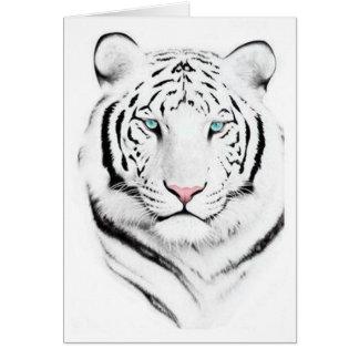 Tigre blanco siberiano felicitacion