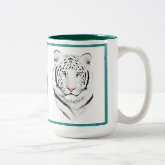 Tigre blanco siberiano tazas