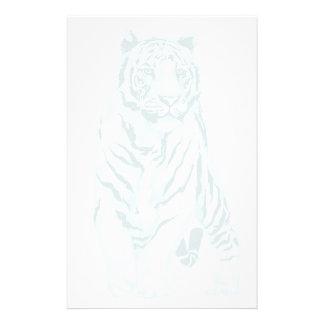 Tigre blanco stationery_vertical.v2. papelería de diseño