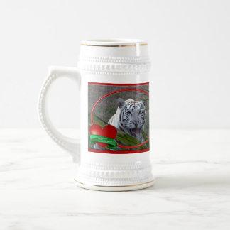 Tigre blanco Stein Jarra De Cerveza