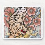 Tigre blanco tapete de ratón