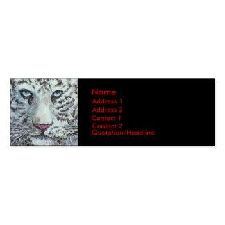 tigre blanco, tarjeta del perfil tarjetas de visita mini