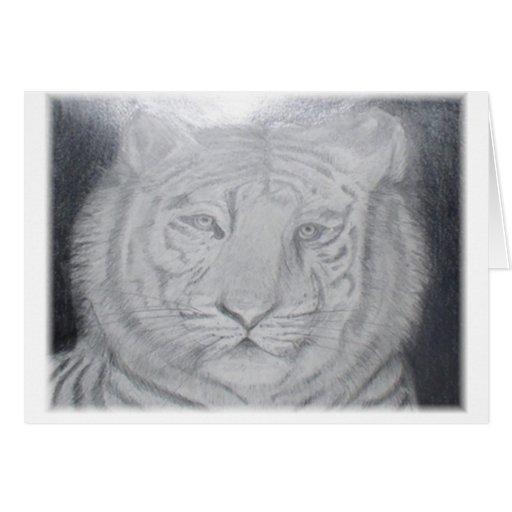Tigre blanco tarjeta pequeña