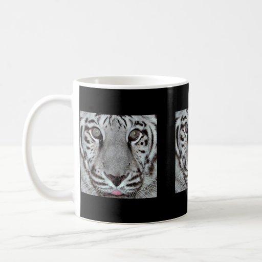 Tigre blanco tazas