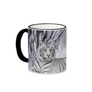 Tigre blanco taza de dos colores
