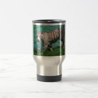 Tigre blanco taza de viaje