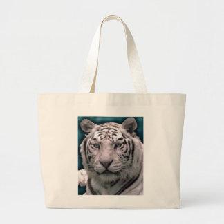 Tigre blanco, tote enorme bolsa tela grande