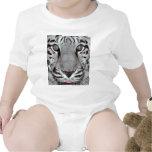 Tigre blanco trajes de bebé