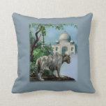 Tigre blanco y el Taj Mahal la India Almohadas