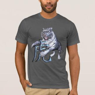 Tigre blanco y símbolo chino playera