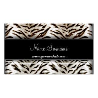 Tigre blanco y tarjeta de visita negra