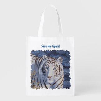 Tigre blanco bolsa para la compra
