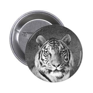 Tigre - botón pin redondo de 2 pulgadas