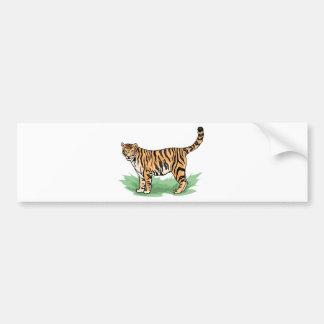 tigre pegatina de parachoque