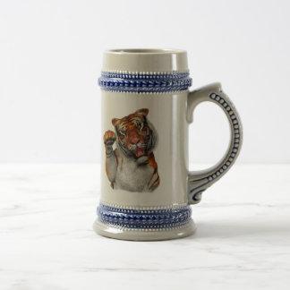 Tigre, cerveza Stein del tigre Taza De Café