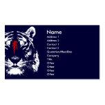 Tigre chino del zodiaco en tarjeta de visita del k