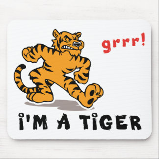 Tigre chino divertido del zodiaco mousepad