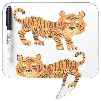 tigre chino pizarras blancas
