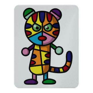 """tigre colorido invitación 4.25"""" x 5.5"""""""