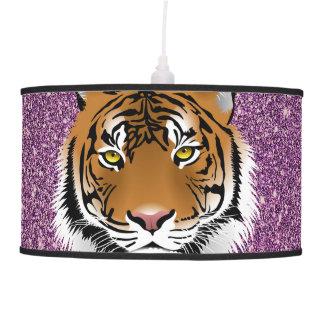 Tigre con el fondo púrpura lámpara de techo