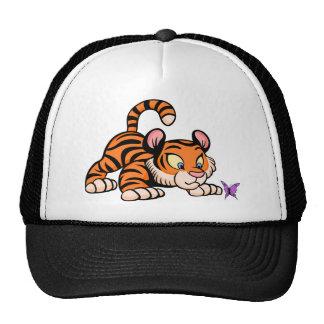 Tigre con la mariposa gorras de camionero
