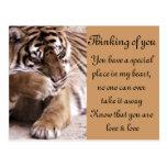 Tigre con un heart_ tarjetas postales