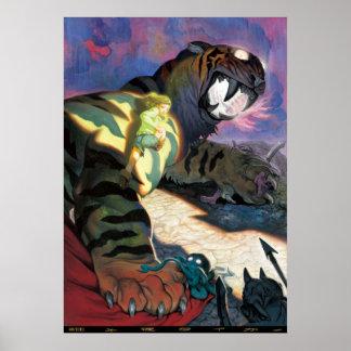 Tigre crepuscular póster